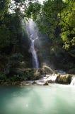 瀑布在老挝 免版税库存图片