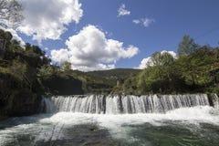 瀑布在葡萄牙 库存照片