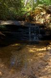 瀑布在蓝山山脉原野在澳大利亚 免版税图库摄影