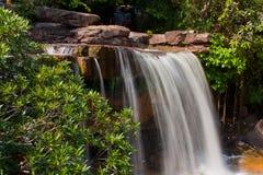 瀑布在西哈努克柬埔寨 免版税库存图片