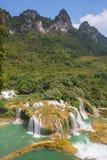 瀑布在越南 库存图片