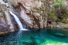 瀑布在邶Jiu水族足迹,老山山,青岛,中国 库存照片