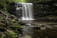 瀑布在里基茨幽谷国家公园,宾夕法尼亚 免版税库存图片