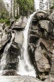 瀑布在高Tatras,斯洛伐克 库存图片