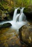 瀑布在巴法力亚森林里 免版税图库摄影