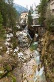 瀑布在滑雪胜地镇坏Gastein,奥地利 免版税库存照片