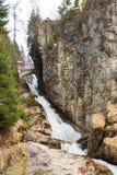 瀑布在滑雪胜地镇坏Gastein,奥地利 免版税库存图片