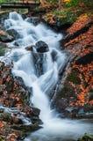 瀑布在Gatineau公园 免版税库存照片