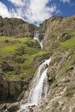 瀑布在Gran Paradiso地区 免版税库存图片