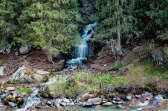 瀑布在Grigorevsky峡谷 免版税库存图片