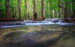 瀑布在Krabi,泰国 免版税库存照片