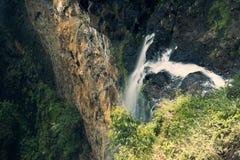 瀑布在Mapleton落国家公园,玻璃议院山 库存图片