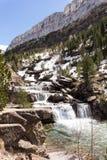 瀑布在Ordesa国家公园 免版税库存图片