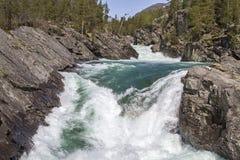 瀑布在Ottadalen 库存图片