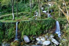 瀑布在Peneda Geres国家公园  库存图片