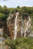 瀑布在Plitvice公园 免版税图库摄影