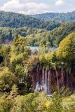 瀑布在Plitvice国家公园-克罗地亚 免版税图库摄影