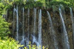 瀑布在Plitvice国家公园 图库摄影