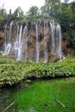 瀑布在Plitvice湖国家公园 免版税库存图片