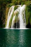 瀑布在Plitvice湖 库存照片