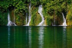 瀑布在Plitvice湖 库存图片