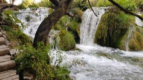 瀑布在Plitvice 库存照片