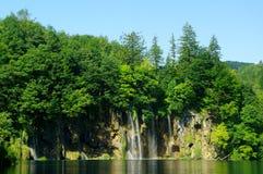 瀑布在Plitvice 免版税图库摄影