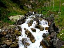 瀑布在Samnaun 免版税库存照片