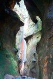 瀑布在Sombrio海滩公园2 免版税库存照片