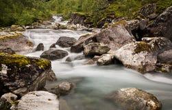 瀑布在Trollstigen, Stigfossen,更多og Romsdal,挪威2013年 库存照片