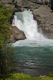 瀑布在Utladalen 免版税图库摄影