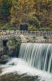 瀑布在Vucje 塞尔维亚 图库摄影
