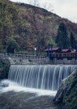 瀑布在Vucje 塞尔维亚 免版税库存图片