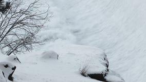 瀑布基地在大雪的 影视素材