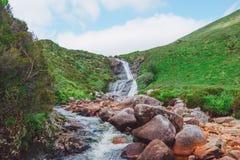 瀑布小河,斯凯岛,苏格兰小岛  免版税库存图片