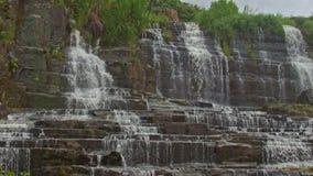 瀑布小瀑布Panagarh宽接近的看法在越南 影视素材