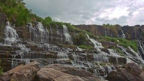 瀑布小瀑布Panagarh宽看法在越南 影视素材