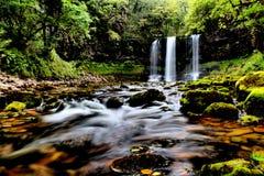瀑布布雷肯比肯斯山国家公园,威尔士英国 库存图片