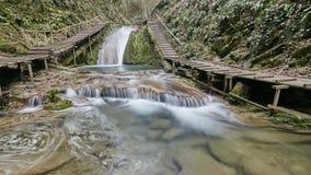 33瀑布手段在索契俄罗斯 图库摄影