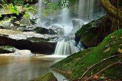 瀑布旅行在泰国 免版税库存照片