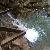 瀑布桥梁 库存图片