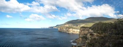 瀑布海湾塔斯马尼亚岛全景 免版税库存图片