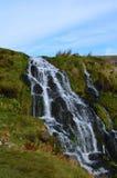 瀑布的惊人的看法在苏格兰 免版税库存图片