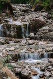 瀑布的片段 库存图片