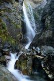 瀑布的看法在Aoraki Mt厨师国家公园的 免版税库存图片