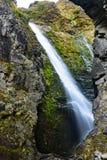 瀑布的看法在Aoraki Mt厨师国家公园的 图库摄影