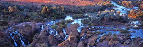 瀑布看法在纳米比亚 库存图片