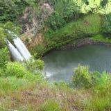 瀑布考艾岛 库存图片