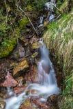 瀑布自然西班牙韦斯卡省 库存照片