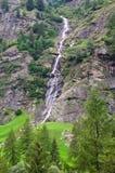 瀑布计划特伦托自治省Val passiria 库存照片